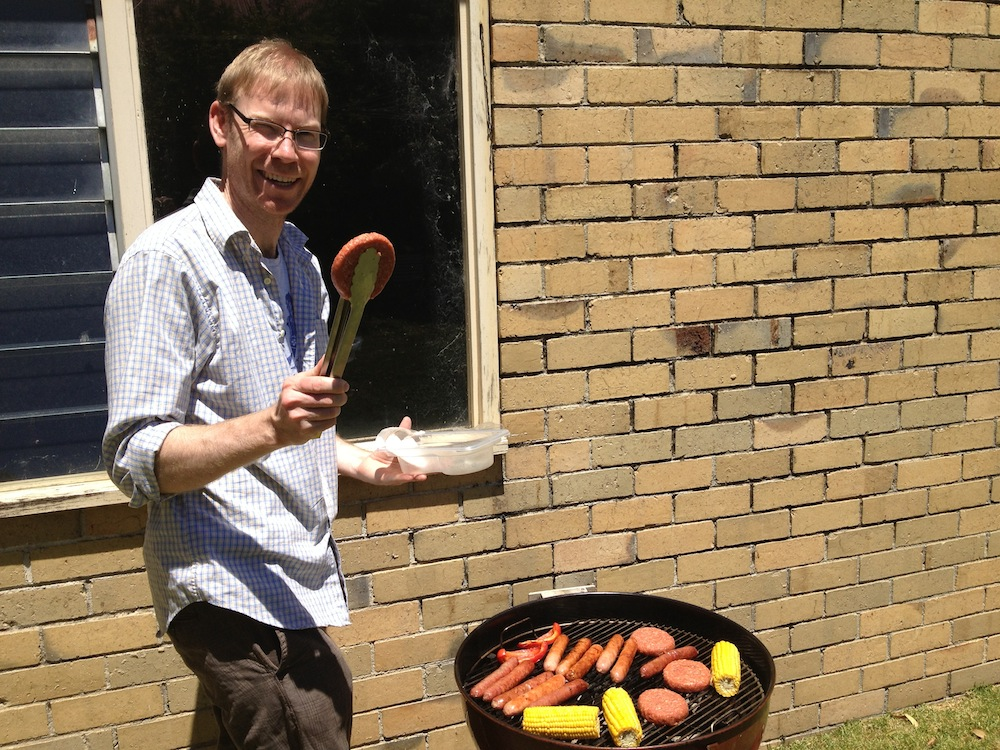Tim with his new Weber (thanks Gumtree!)